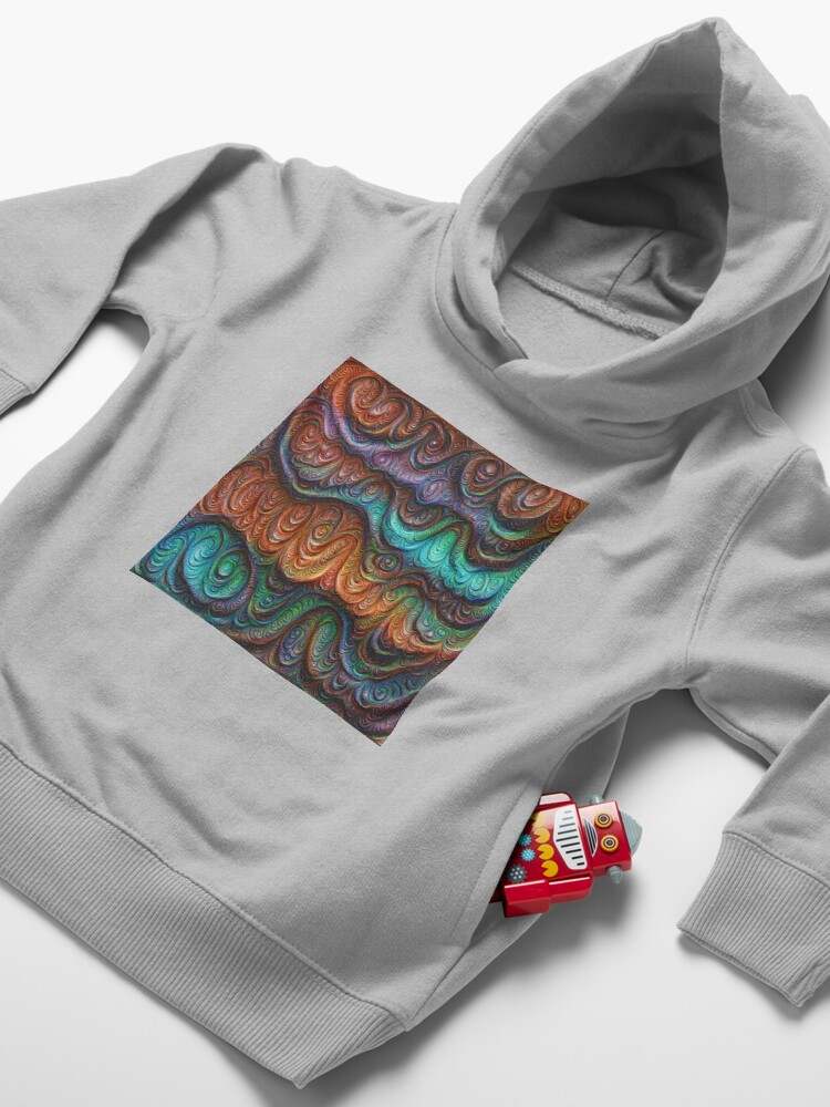 Alternate view of Frozen forest liquid lines and waves #DeepDream Toddler Pullover Hoodie