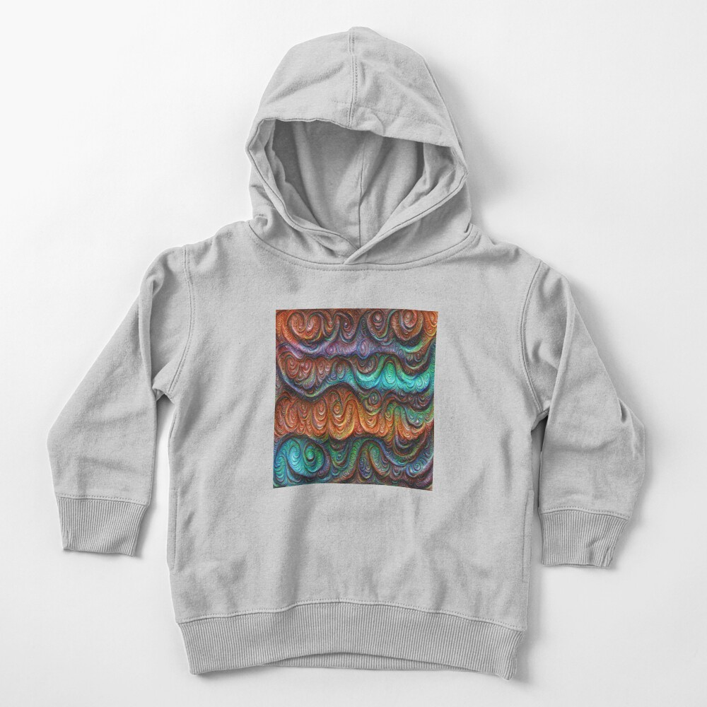 Frozen forest liquid lines and waves #DeepDream Toddler Pullover Hoodie
