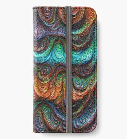 Frozen forest liquid lines and waves #DeepDream iPhone Wallet