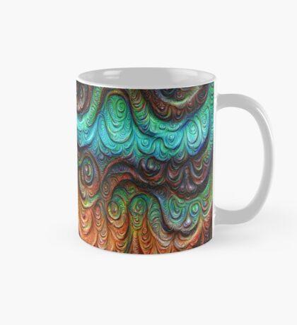 Frozen forest liquid lines and waves #DeepDream Mug