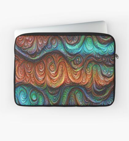 Frozen forest liquid lines and waves #DeepDream Laptop Sleeve