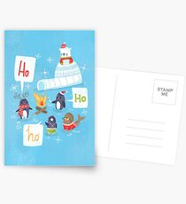 Penguins & Igloos Holiday Card Postcards