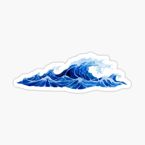 Watercolor  storm waves Sticker