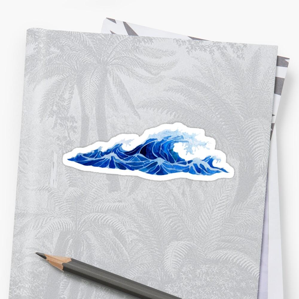 Watercolor  storm waves by Ekaterina Glazkova