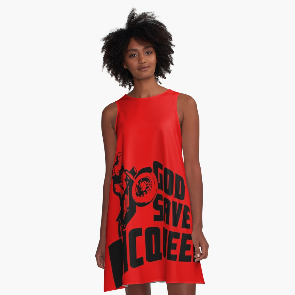 God Save McQueen A-Line Dress Front