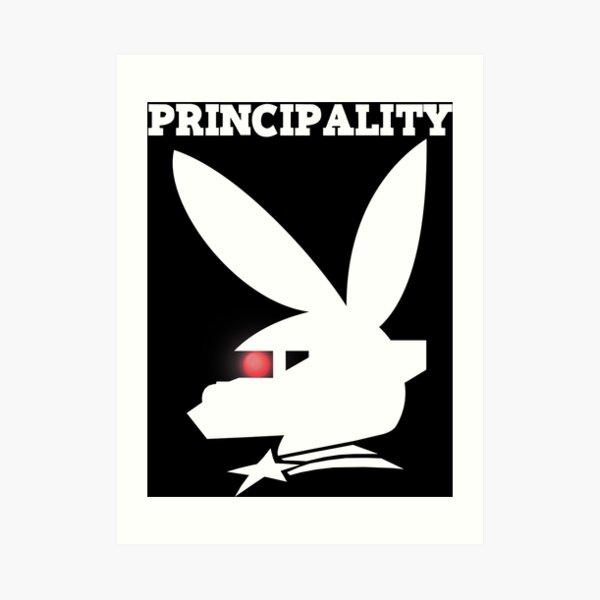 PRINCIPALITY - White Art Print