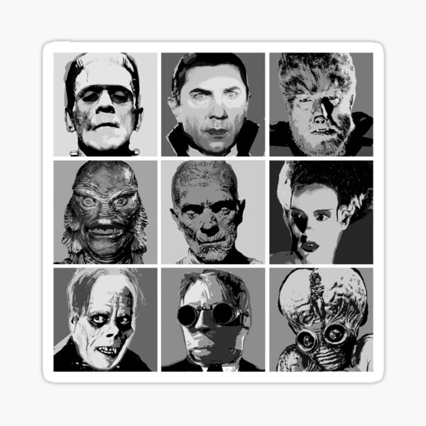 Universal Warhol Black&White Sticker