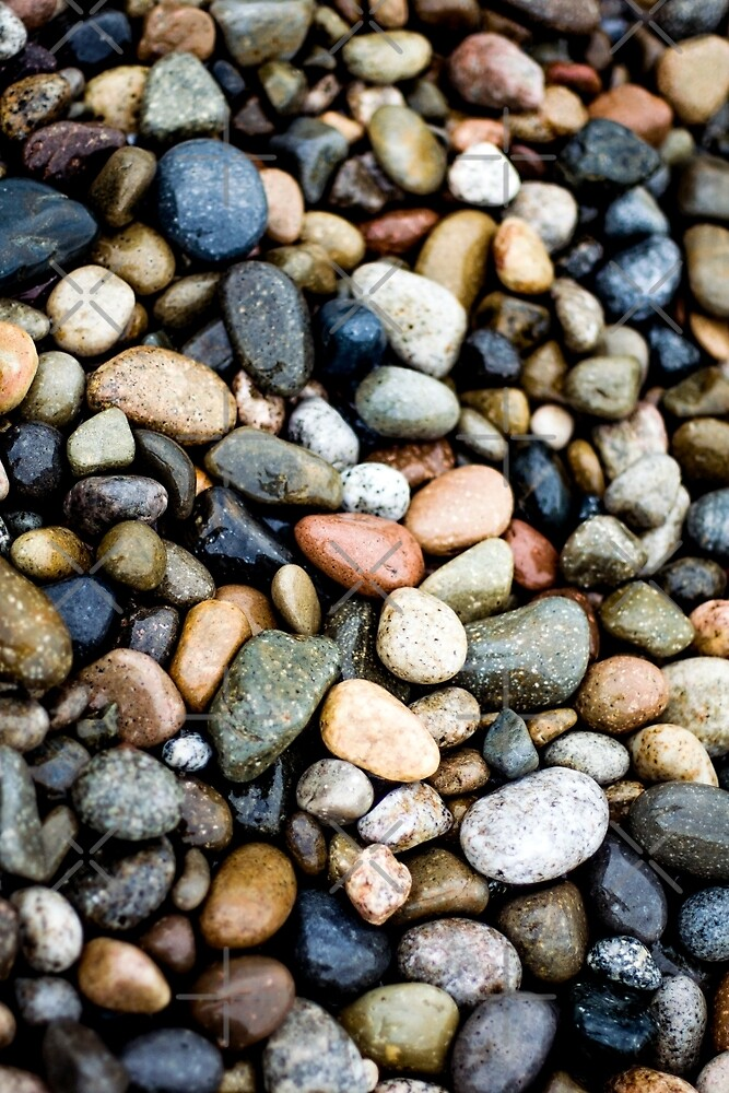 Beach Pebbles Pattern  by mooonthemoon