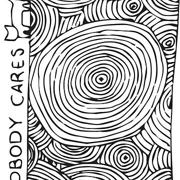Cat Nobody Cares Pattern by laurenroche00