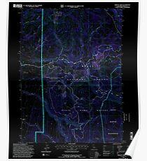 USGS TOPO Map California CA Shields Creek 295178 1993 24000 geo Inverted Poster