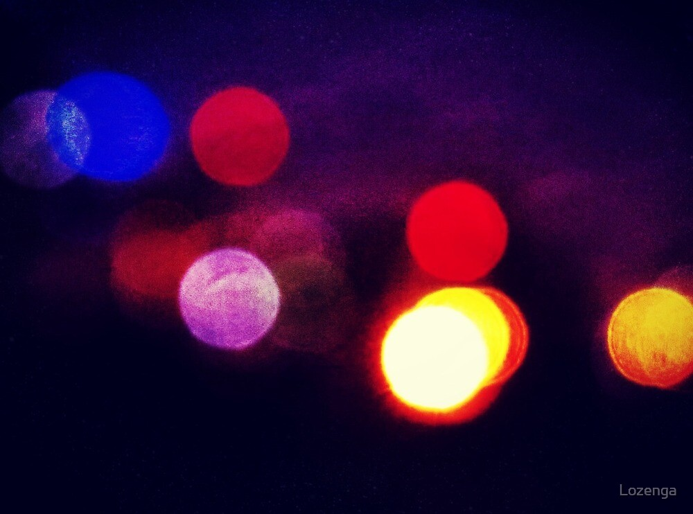 Melbourne city lights by Lozenga