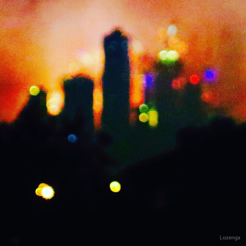 Melbourne New Years lights by Lozenga
