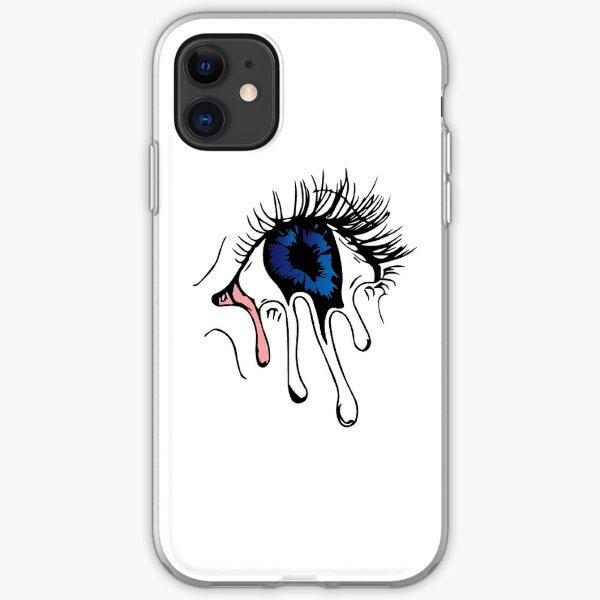 Cool Trippy Melting Eye Funda blanda para iPhone