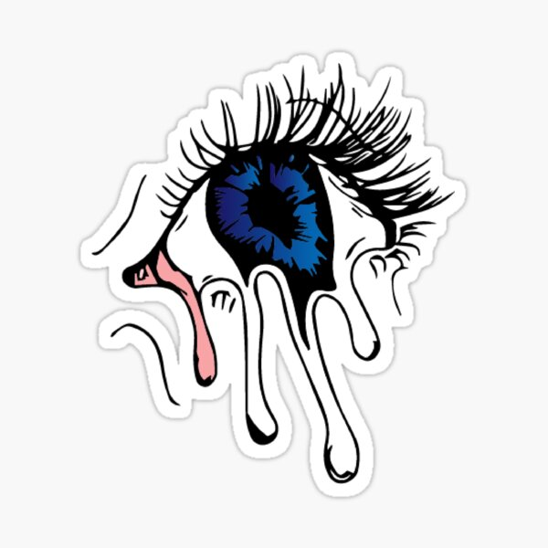 Cool Trippy Melting Eye Sticker