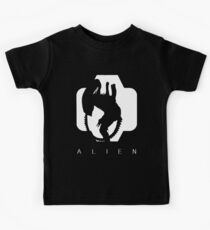 Alien Silhouette  Kids Tee