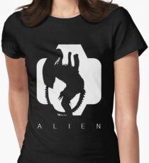 Alien Silhouette  Women's Fitted T-Shirt