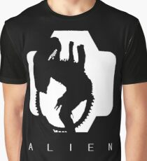 Alien Silhouette  Graphic T-Shirt