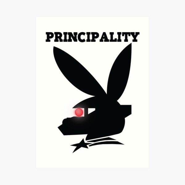 PRINCIPALITY - Black Art Print