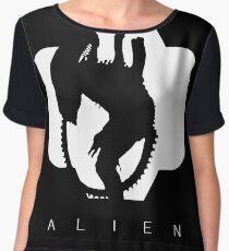 Alien Silhouette  Women's Chiffon Top