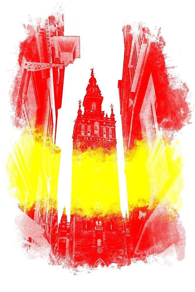 The Giralda - Spanish Flag by Andrea Mazzocchetti
