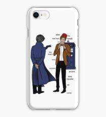 Sherlock meets the Doctor iPhone Case/Skin