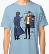 Sherlock meets the Doctor Classic T-Shirt