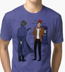 Sherlock meets the Doctor Tri-blend T-Shirt