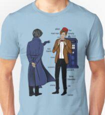 Sherlock meets the Doctor Slim Fit T-Shirt