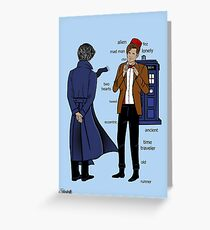 Sherlock meets the Doctor Greeting Card