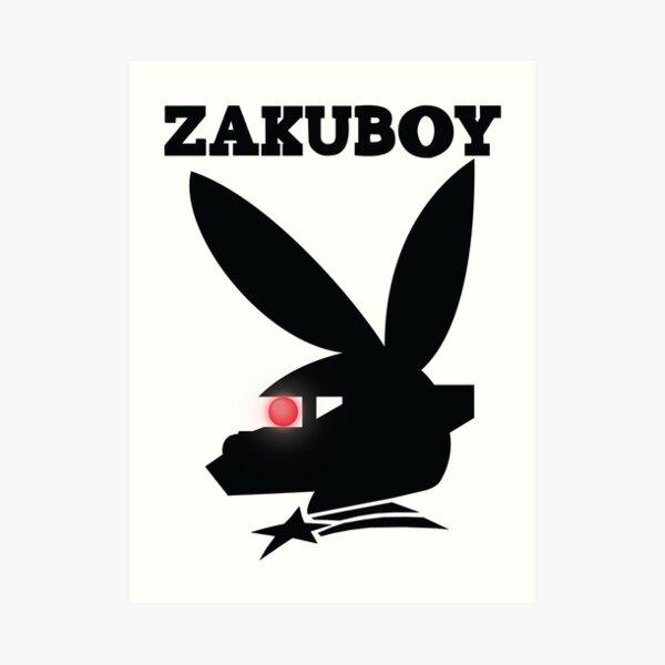 ZAKUBOY - Black Art Print