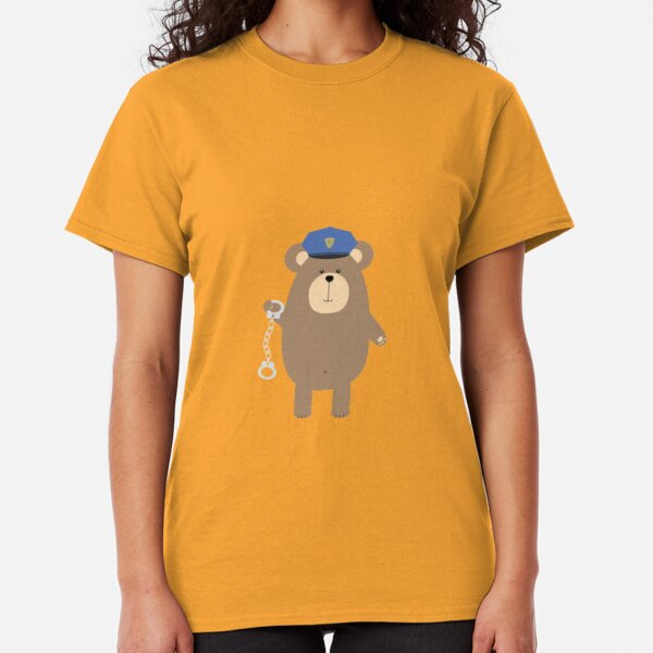 Police Bear with handcuffs Classic T-Shirt