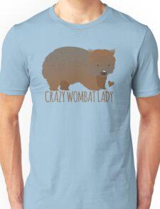 Crazy wombat lady Unisex T-Shirt