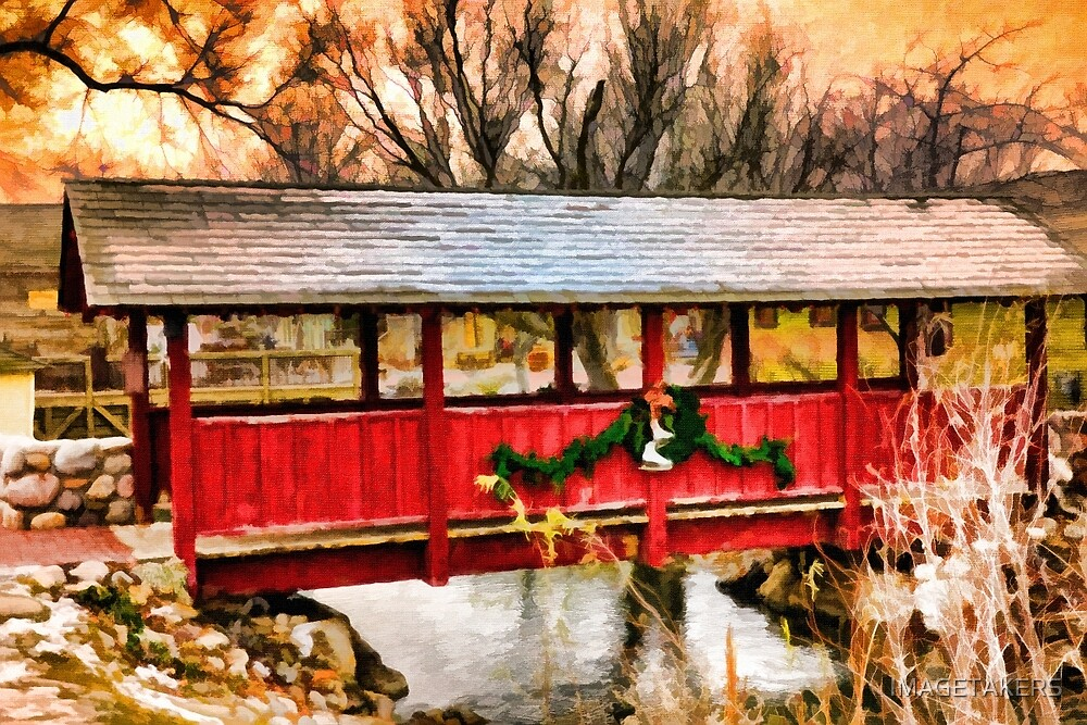 Gardner Village - Little Red Bridge by IMAGETAKERS