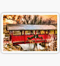 Gardner Village - Little Red Bridge Sticker