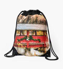 Gardner Village - Little Red Bridge Drawstring Bag