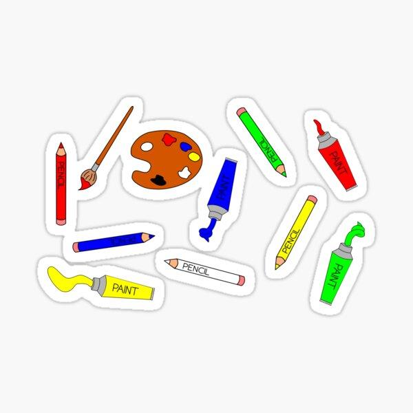 Art Supplies Colour Sticker
