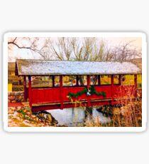 Gardner Village - Christmas Bridge Sticker