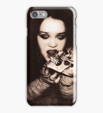 Gothic Girl with Skull iPhone Case/Skin
