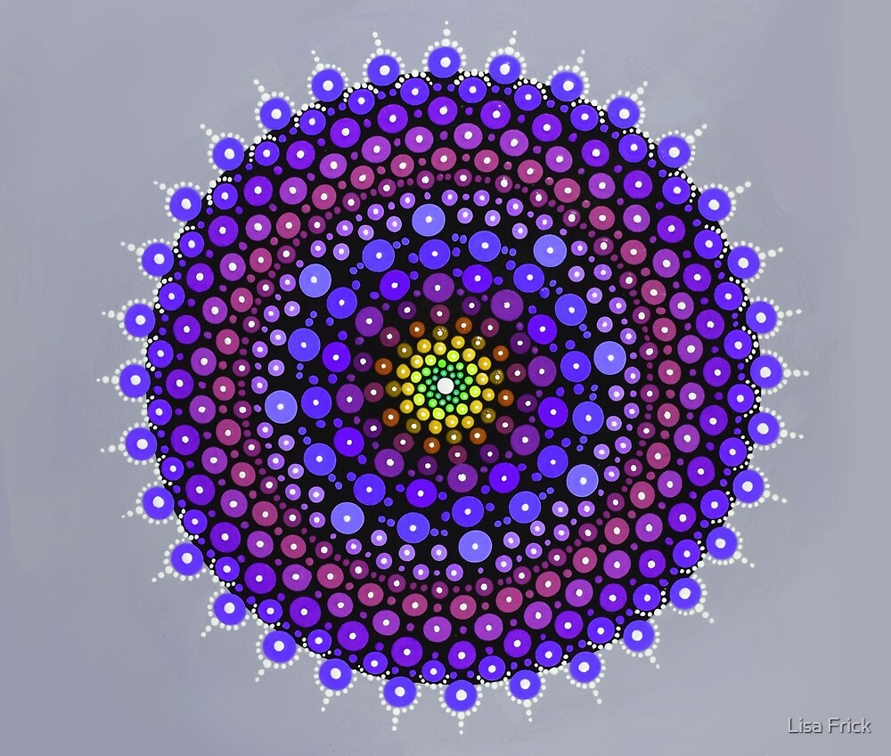 Laura Purple Mandala by Lisa Frick