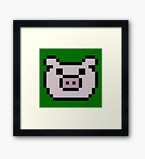 Pig (8-bit / 16-bit / Pixelated) Framed Print