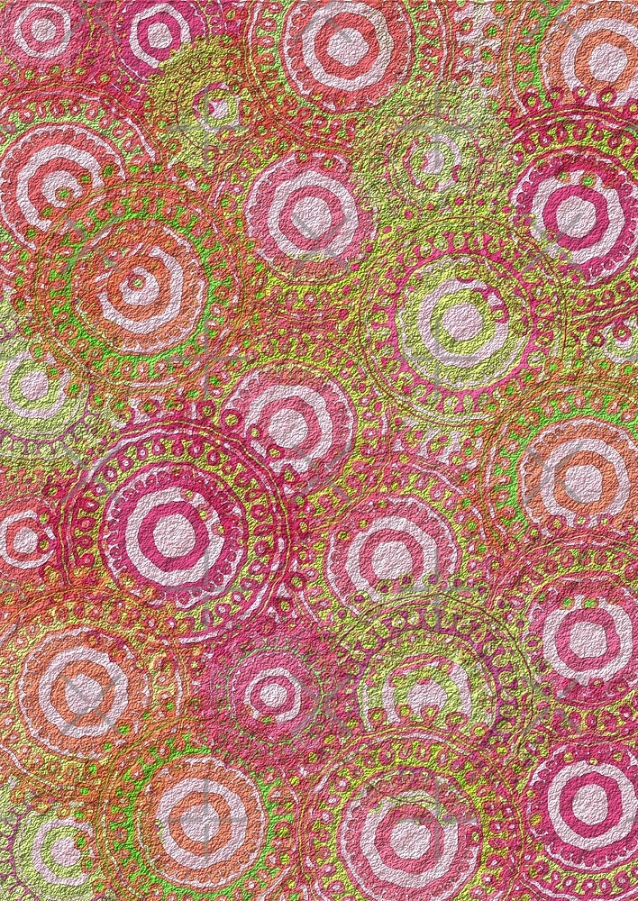 Pink green abstract retro pattern by pixxart