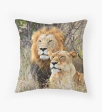 A Handsome Couple in the bush ! Throw Pillow