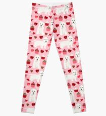 Westie west highland terrier dog breed valentines day cute dog person must have gifts pet portraits by PetFriendly Leggings