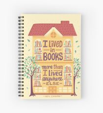 Lived in books Spiral Notebook