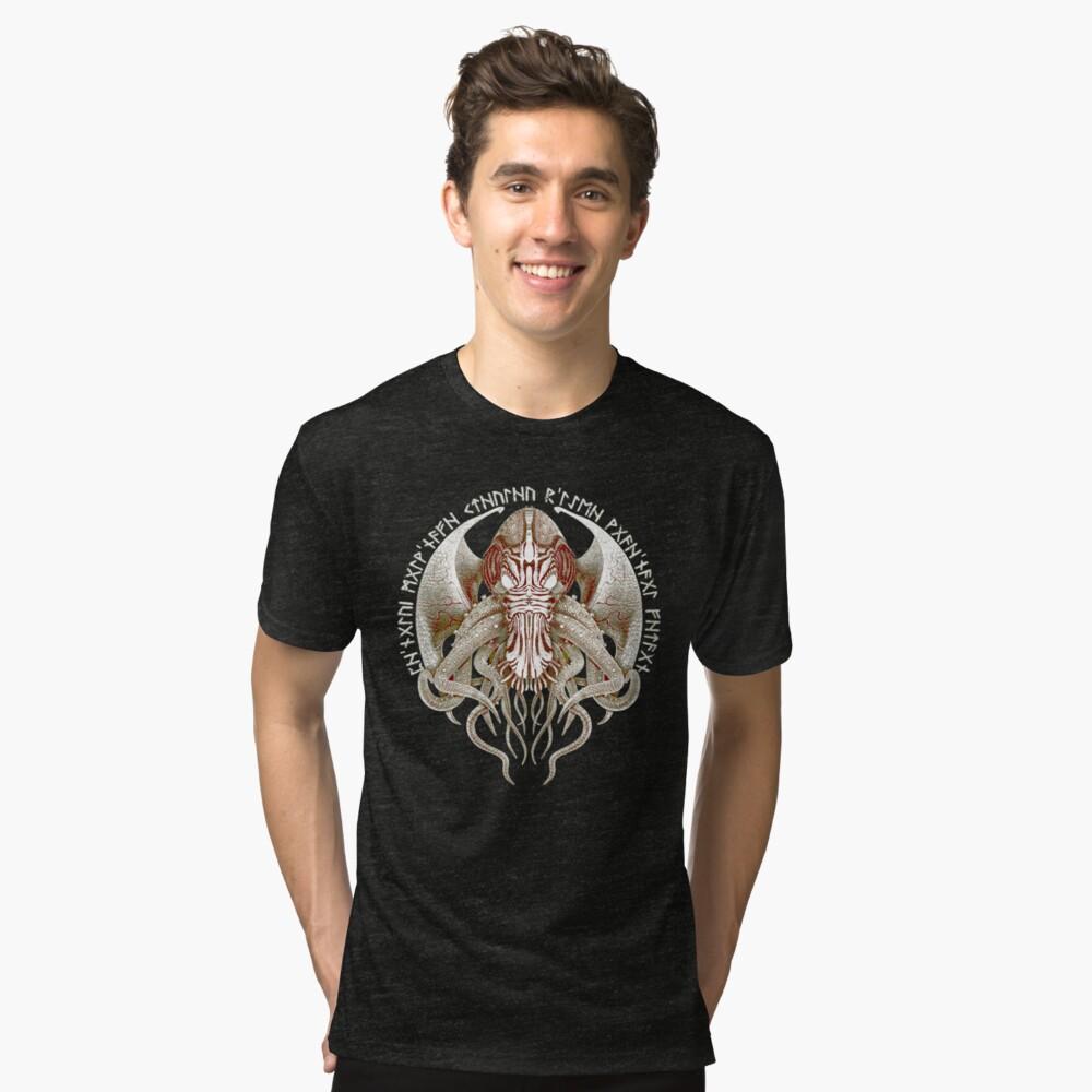 Cthulhu Got Wings Steampunk T-Shirts Tri-blend T-Shirt