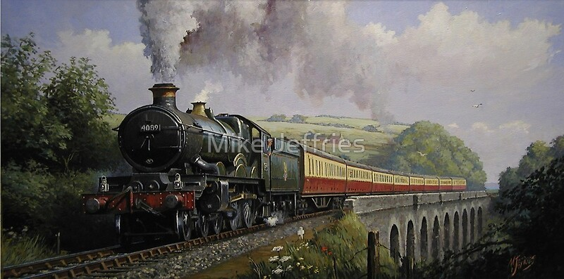 Quot Gwr Castle On Broadsands Viaduct Quot By Mike Jeffries