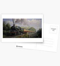 GWR Castle on Broadsands viaduct Postcards