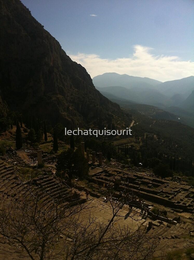 Ancient amphitheatre, Delphi by lechatquisourit