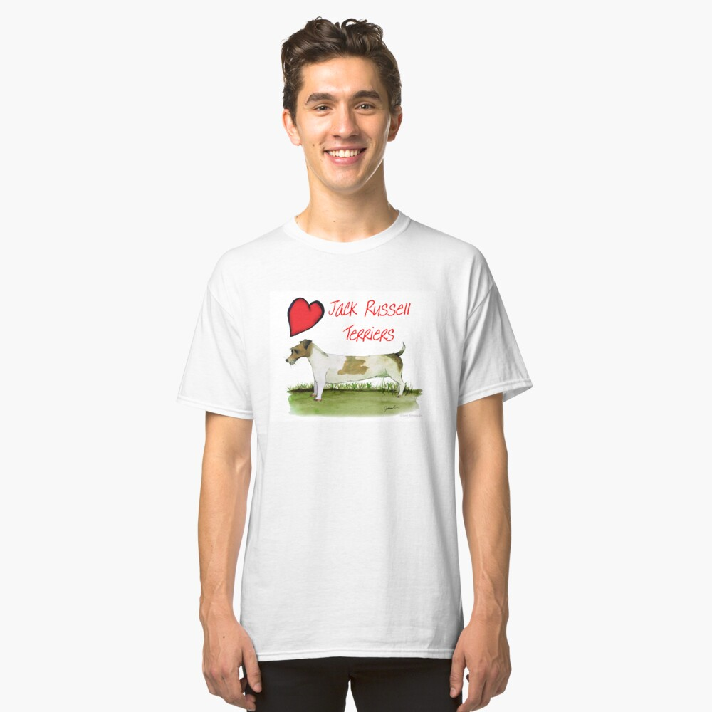 i love jack russell terriers - tony fernandes Classic T-Shirt Front