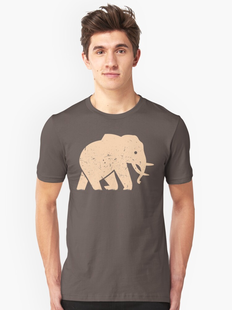 Elephant Baby Safari in Savanna Casual Unisex T-Shirt Front
